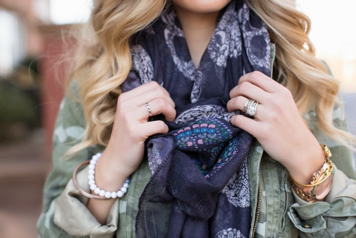 Mixed Print Outfit - Zara Skull Print Scarf