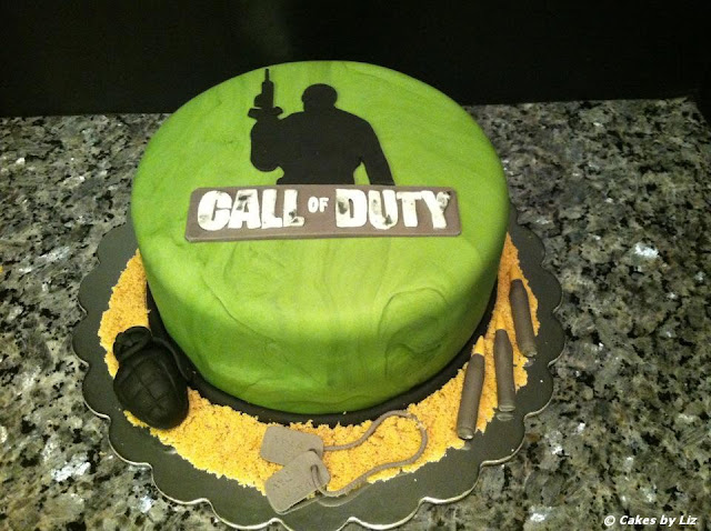 Cakes by liz 39 call of duty 39 cake for Black ops 3 decorations