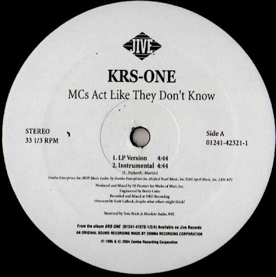 KRS-One ‎– MC's Act Like They Don't Know (VLS) (1995) (192 kbps)