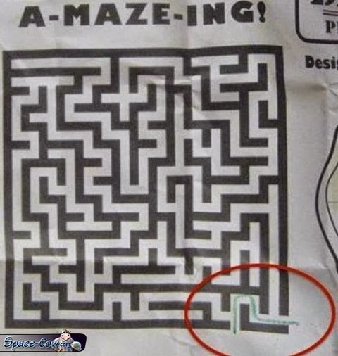 funny things maze picture