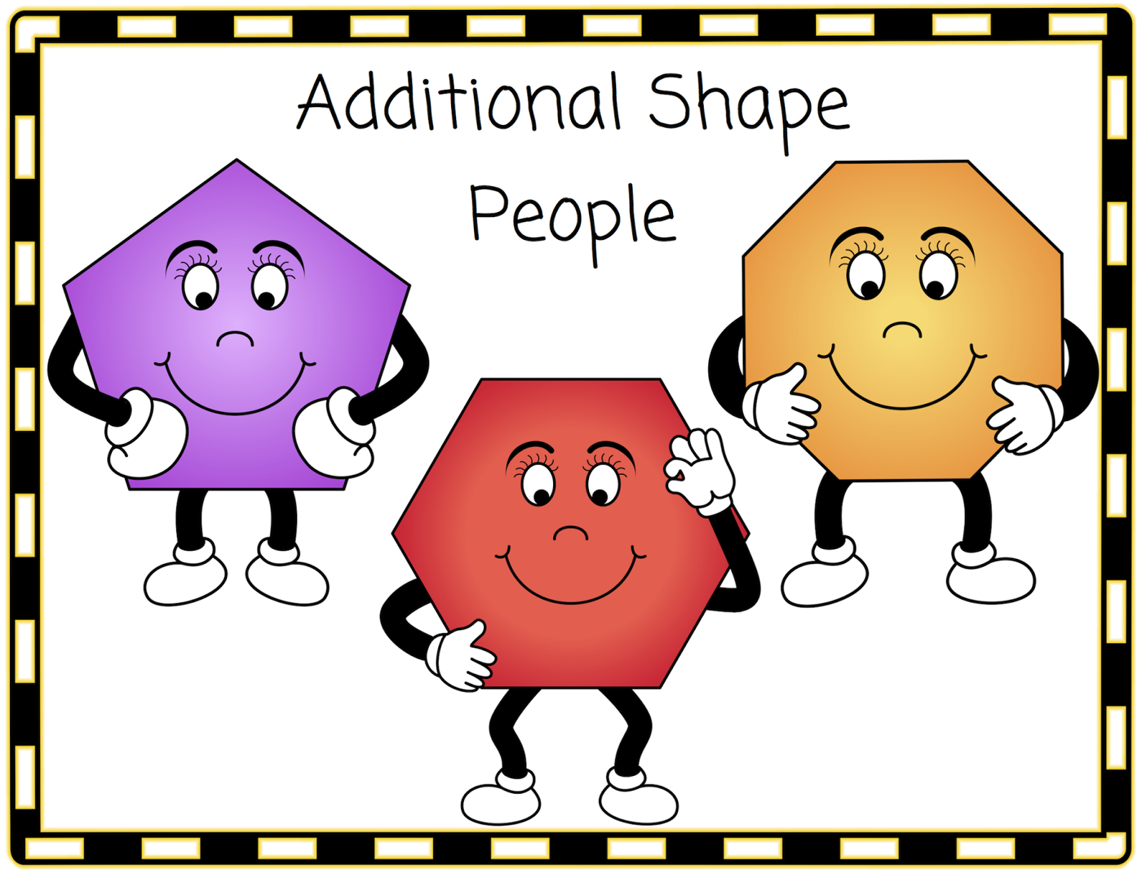 Classroom Treasures: Shape People