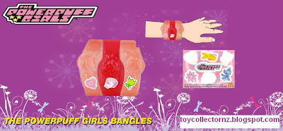 McDonalds Powerpuff Girls Happy Meal Toys 2011 - Australia and New Zealand release - Powerpuff Girls Bangles
