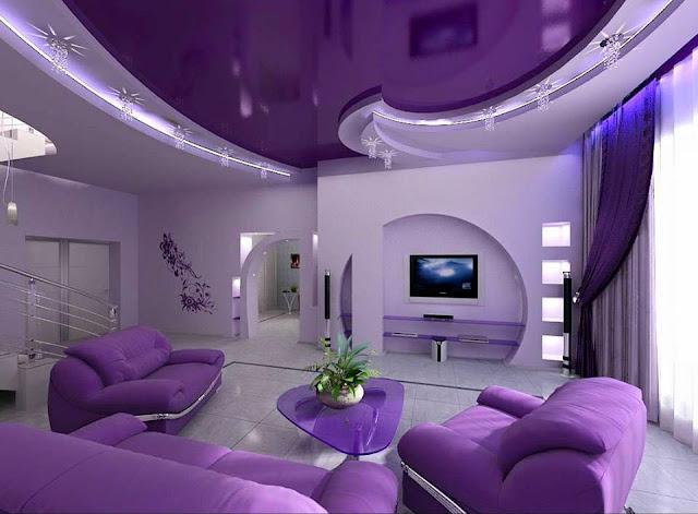 Amazing purple interior Design