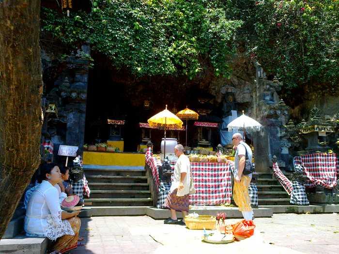 Goa Lawah Temple, bats cave in Bali