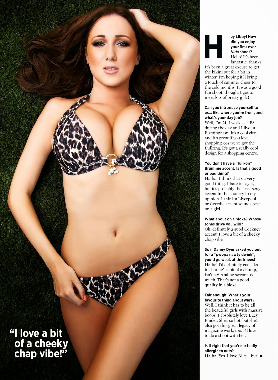 Libby Smith HQ Pictures Nuts UK Magazine Photoshoot February 2014