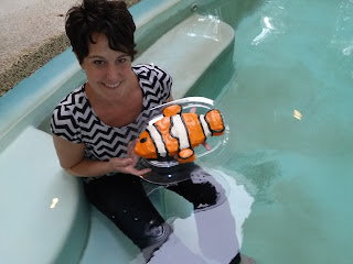Clown fish cake, clown fish, cake, creative cakes, fun cakes, fish cake