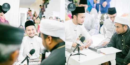 Foto Nikah Fadzil Zahari - Yana Samsudin