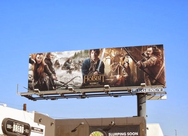 Hobbit Desolation of Smaug movie billboard
