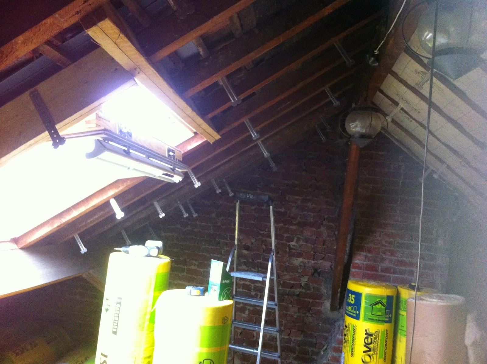 Poser Du Lambris Dans Les Combles à rénovation de notre maison à faches thumesnil: suite de la pose des