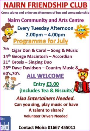Friendship club activities for July