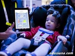Sensor pengaman untuk anak dalam mobil, yang akan mengirim info jika anak tertinggal dalam mobil.
