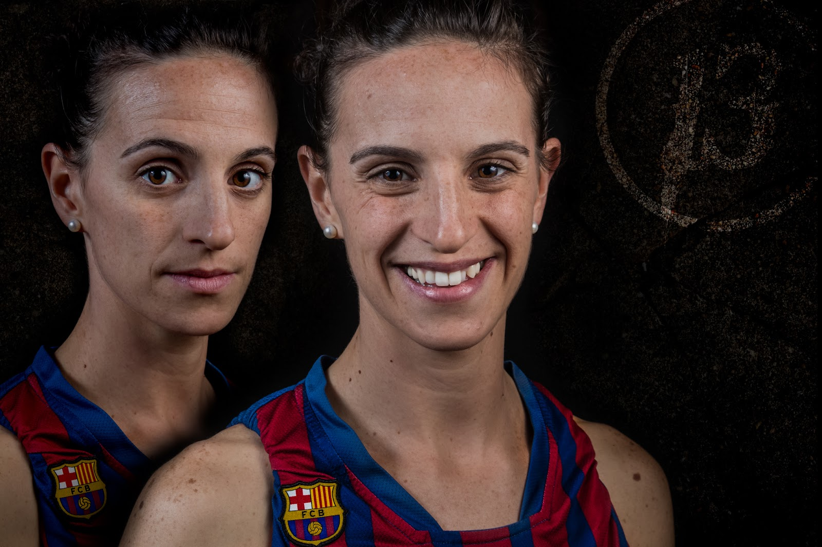 Sandra 13 - CBS Barça Senior Femenino A - 2013 :: 2 x EOS 5D MkIII | ISO100 | Canon 24-105 @45&55mm | f/11 | 1/60s