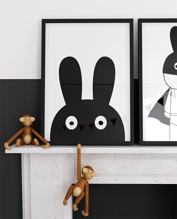 Artwork for kids. Kids bedroom design by My Paradissi