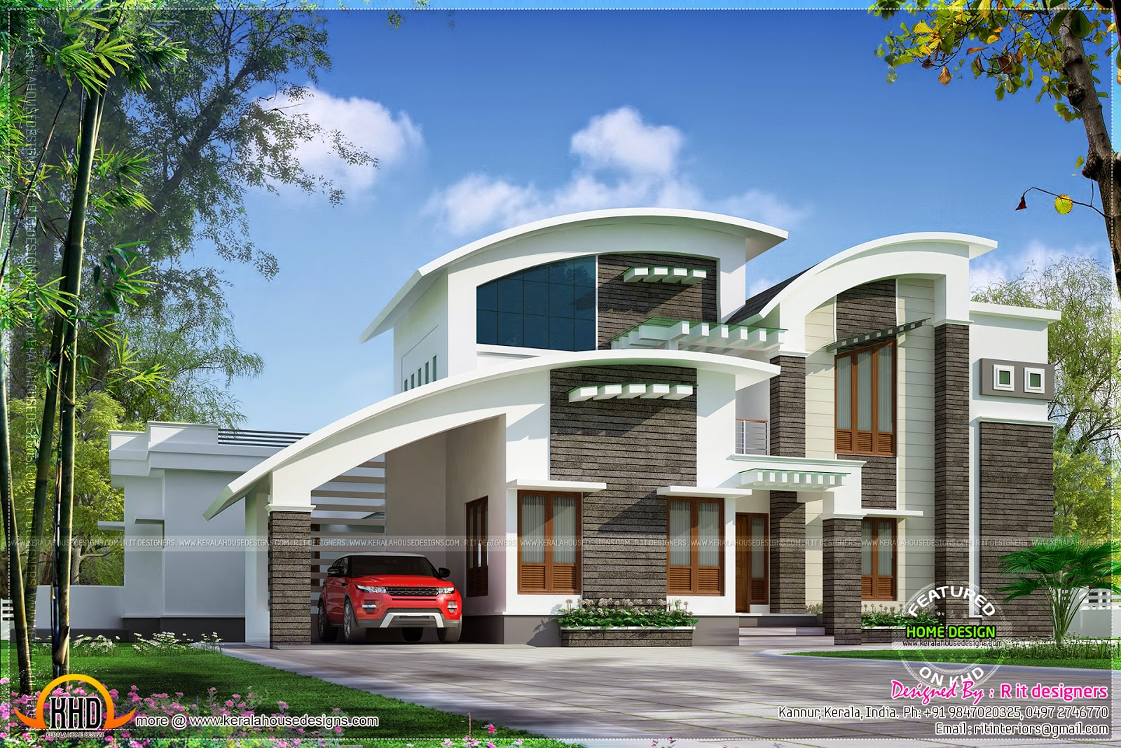 Contemporary Mix House Rendering