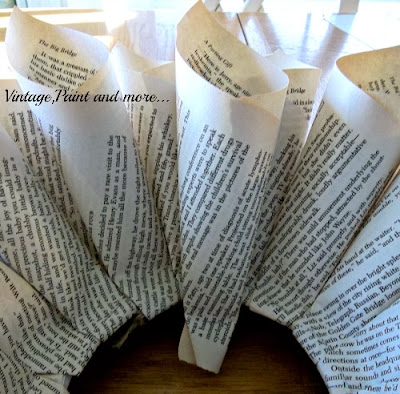 Book Page Wreath Tutorial - placing the page rolls