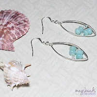 Amazonite Earrings by MagsBeadsCreation