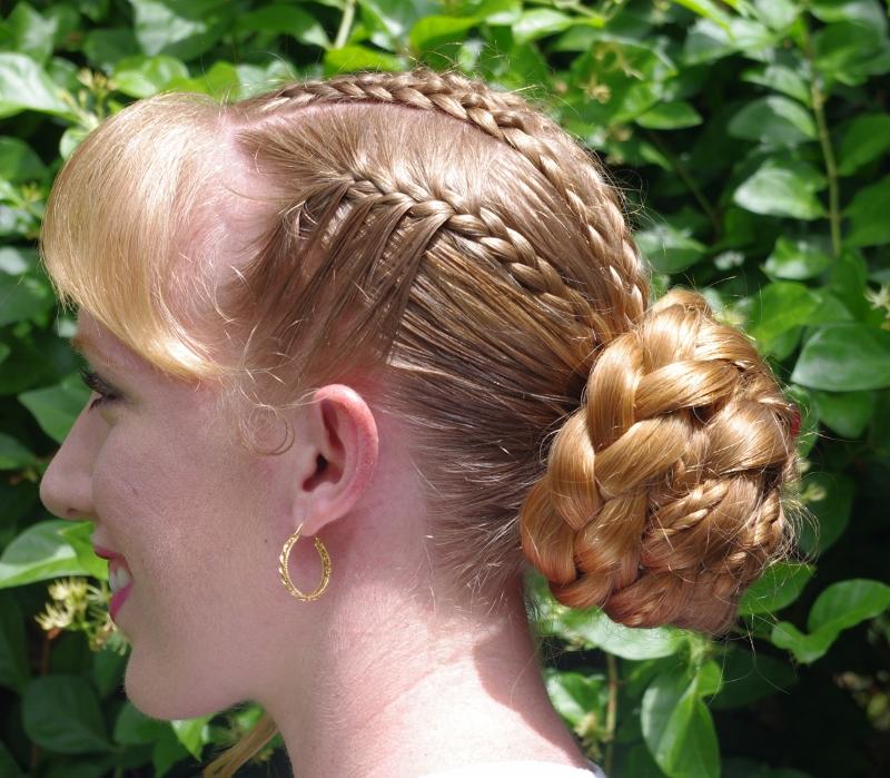 Big Braid Bun Hair | big french braided side bun hairstyle
