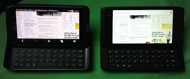 Head to head: Nokia E7 vs N950