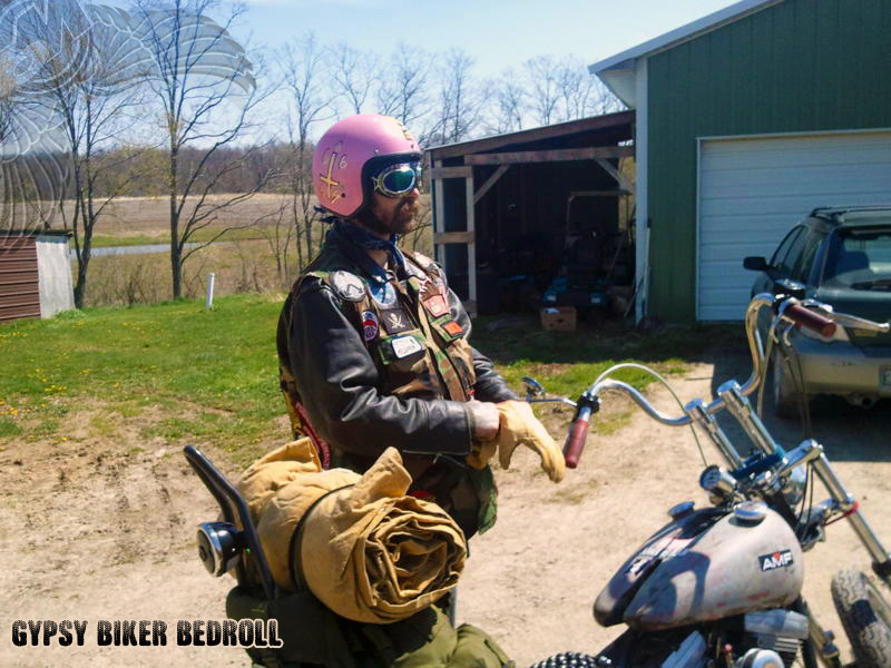 gypsy biker bedroll outlaw