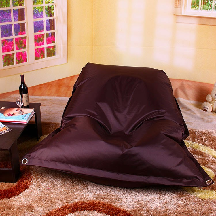 Leather Brown Bean Bag Sofas