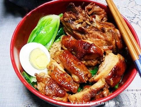 Cách làm cơm gà Teriyaki Nhật