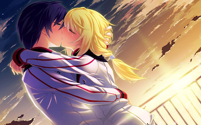 pareja besandose Imagenes de anime de amor