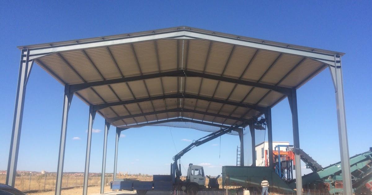 Montaje de una estructura con cubierta en valladolid for Tejados prefabricados