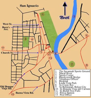 Mapa de San Ignacio Político Región