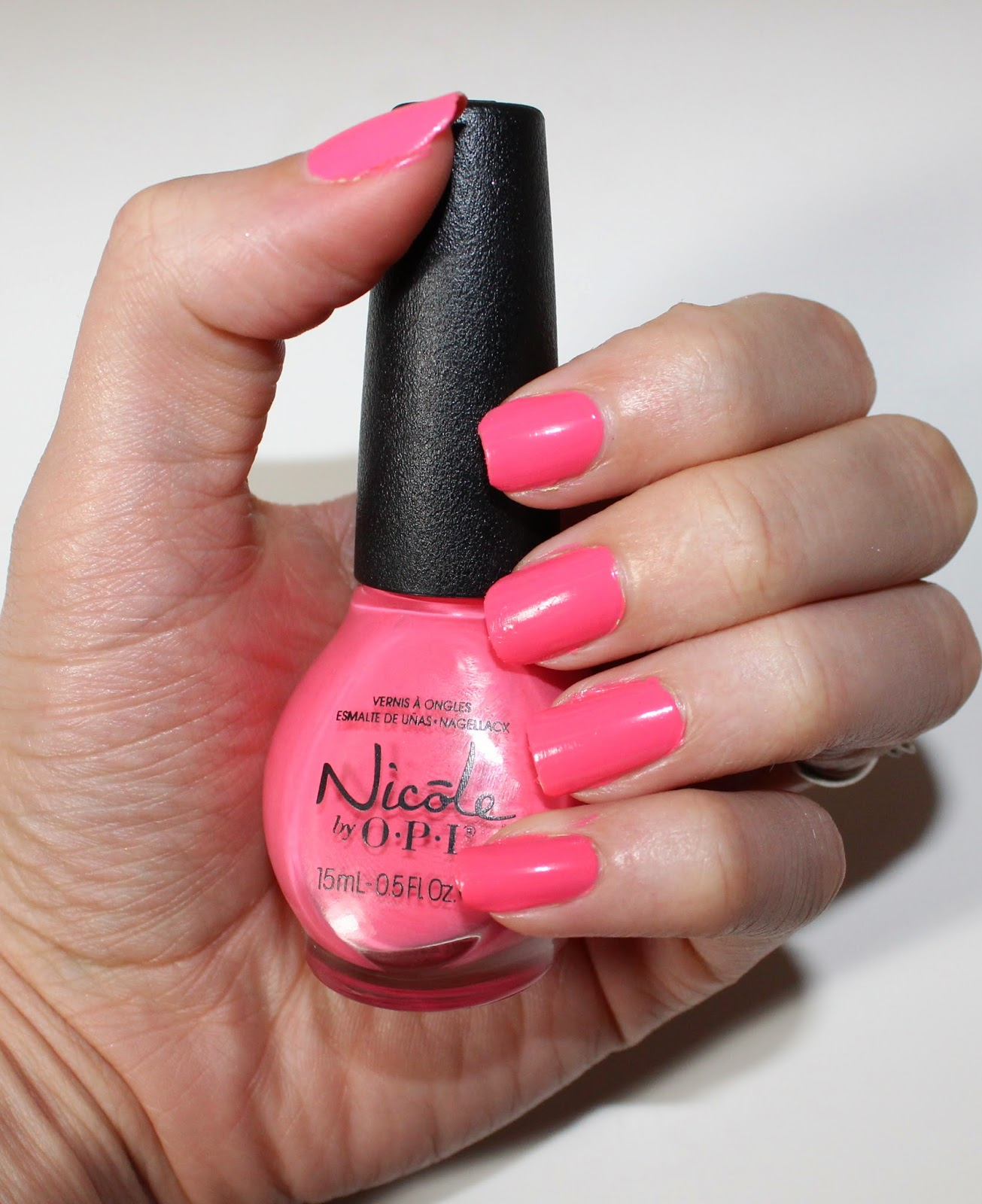 Nicole by OPI  LeaPink for Joy swatch