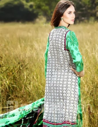 Green Printed Open Shirt Linen Collection