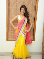 Shraddha das photos in Saree at Rey audio launch-cover-photo