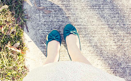 Hunter green vintage 1940s reproduction heels | Lavender & Twill