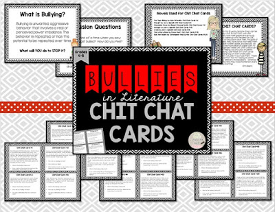 https://www.teacherspayteachers.com/Product/Bullies-in-Literature-Chit-Chat-Cards-for-Grades-4-8-2048725