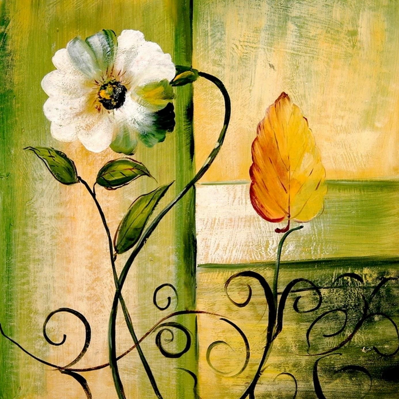 Cuadros pinturas oleos flores al leo modernas - Pintura comedor moderno ...