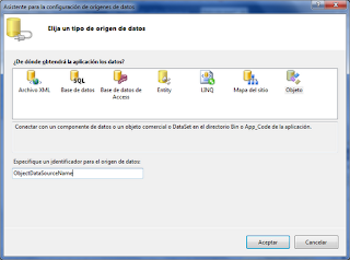 Areatic, ASP.NET 4.0 GridView, elegir origen de datos