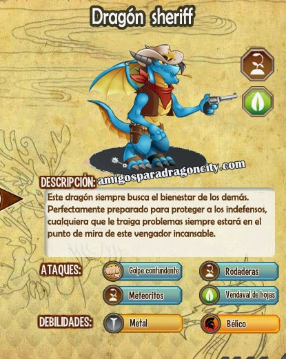 imagen de las caracteristicas del dragon sheriff