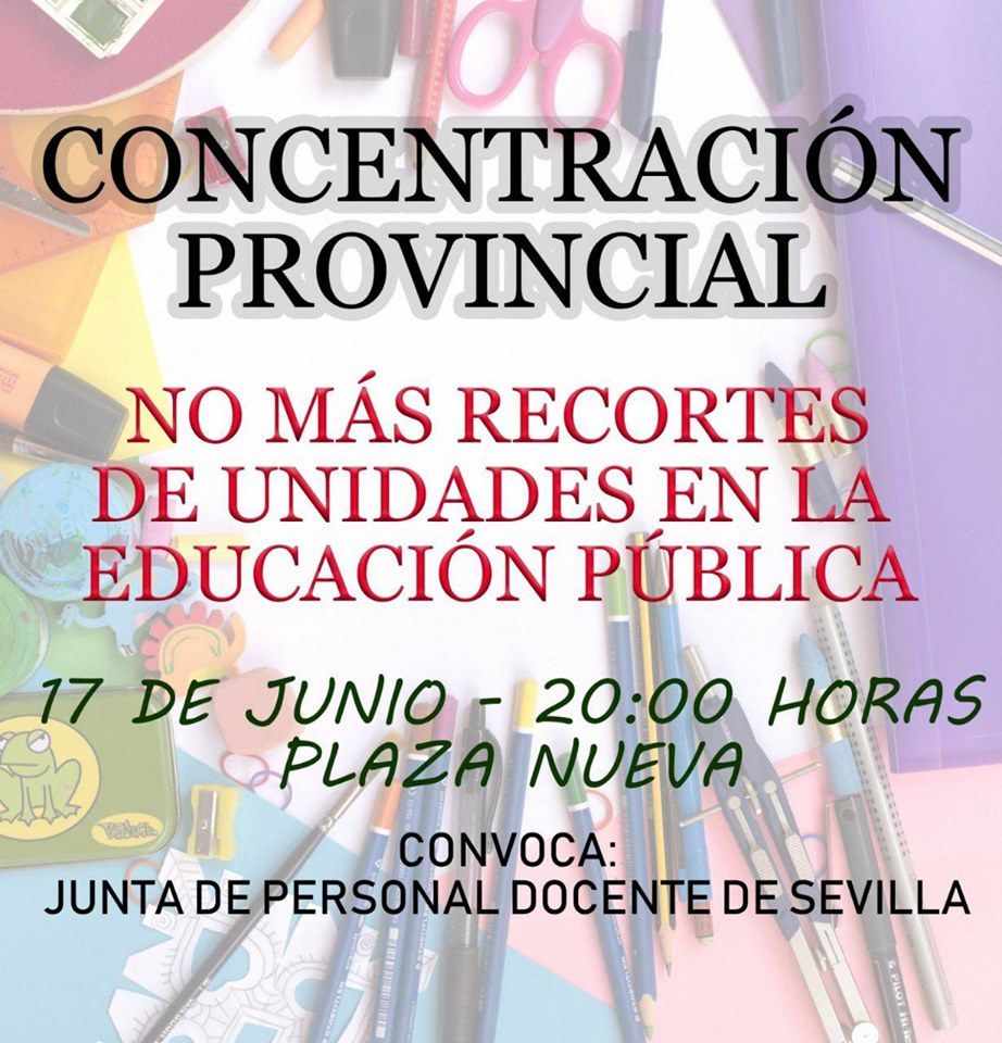 CONCENTRACIÓN CONTRA EL RECORTE DE UNIDADES EN LA ENSEÑANZA PÚBLICA