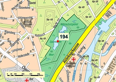 Lageplan des Eppendorfer Moors
