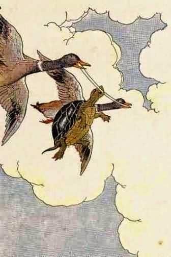 Kura-kura dan Dua Angsa Undan merupakan salah satu contoh cerita dongeng binatang yang menggambarkan betapa pentingnya nasihat dalam kehidupan.