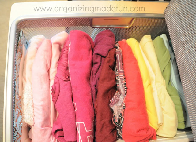shirts folded organized