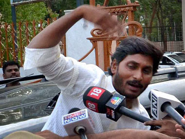 YSR Congress chief YS Jaganmohan Reddy