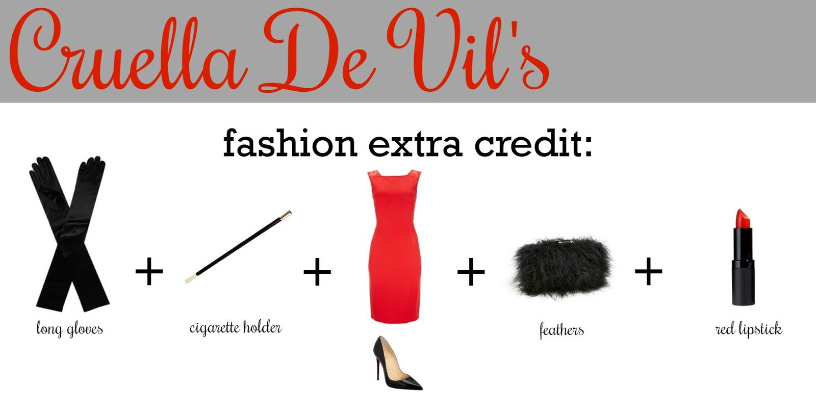 My favorite things cruella de vil costume tutorial diy if you would like to make your cruella look more detailed adding one or more of these items can create that depth in your ensemble solutioingenieria Images