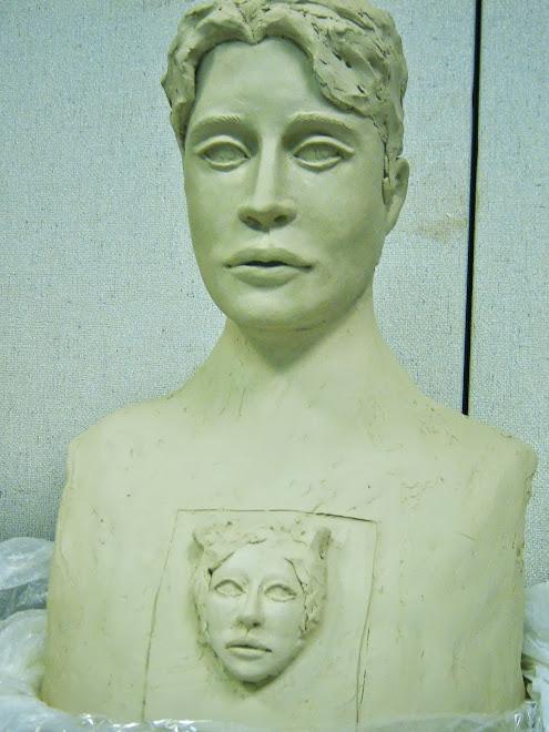 Large Male Sculpture in Progress