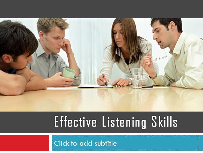 Effective Listening Skills Ppt Effective Listening Skills