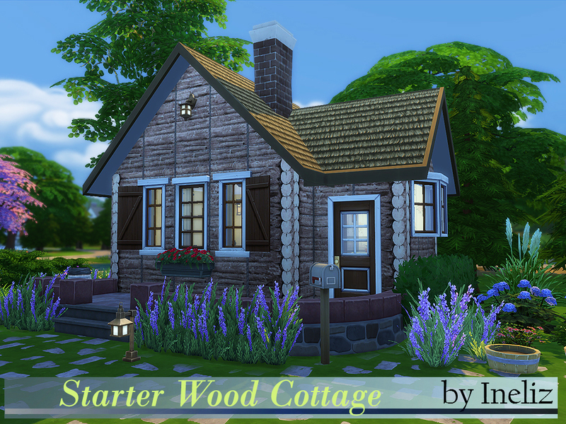 Small Log Cabin Sims Houses