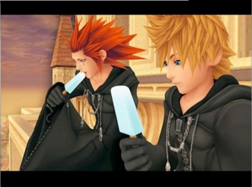 Axel and Roxas Sea Salt Ice Cream