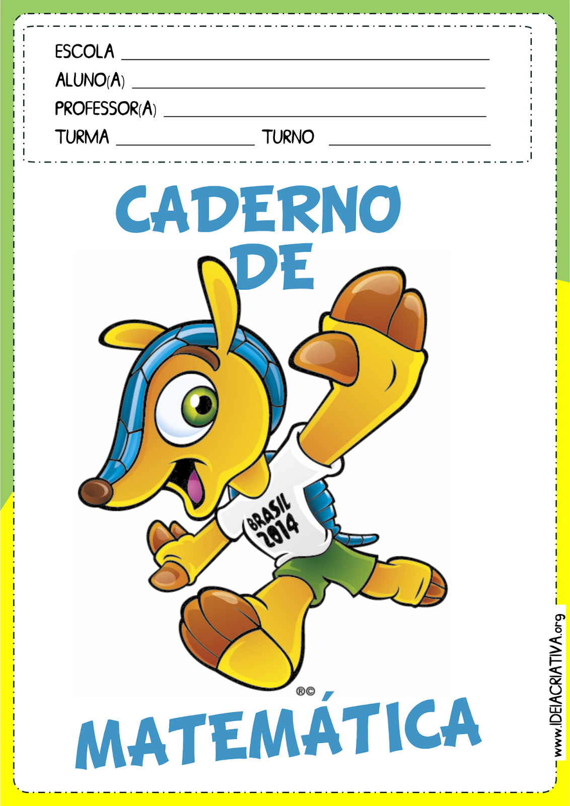 Capas para Caderno Copa do Mundo Fundamental I