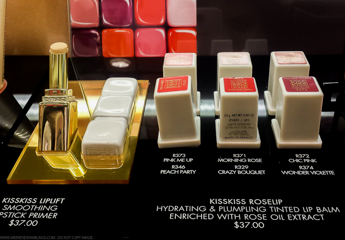 Guerlain KissKiss RoseLip Hydrating Plumping Tinted Lip Balm Swatches Fall 2015 Bloom of Rose Makeup Collection