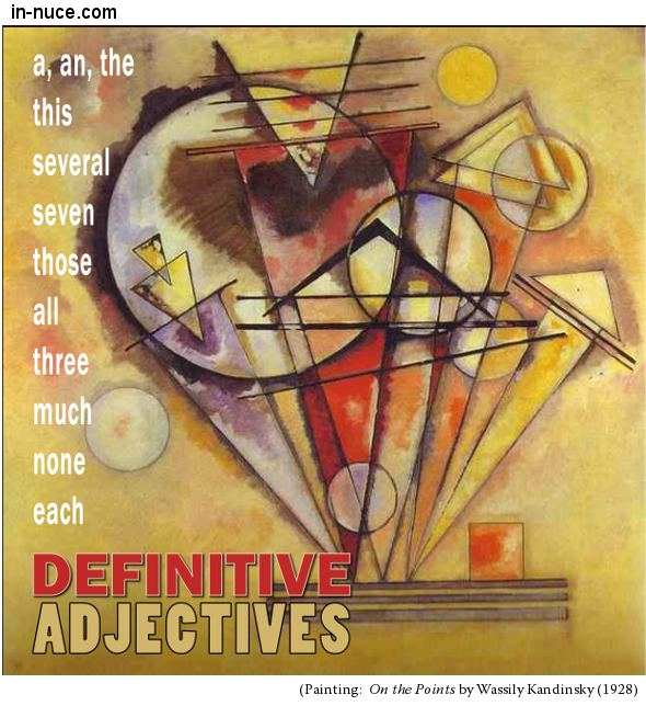 in-nuce.com definitive adjectives