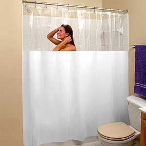 How to Protect Your Tub and Floor with Long Shower Curtains ...